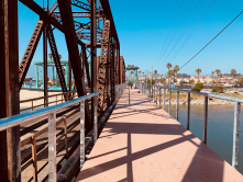 The brand new Boardwalk bike ped bridge in Santa Cruz!