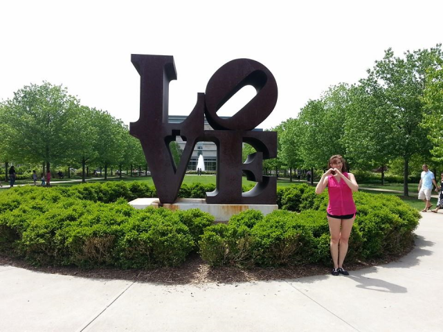 Spent a day walking the grounds of the Indianapolis Art Museum and had to capture the iconic Robert Indiana sculpture