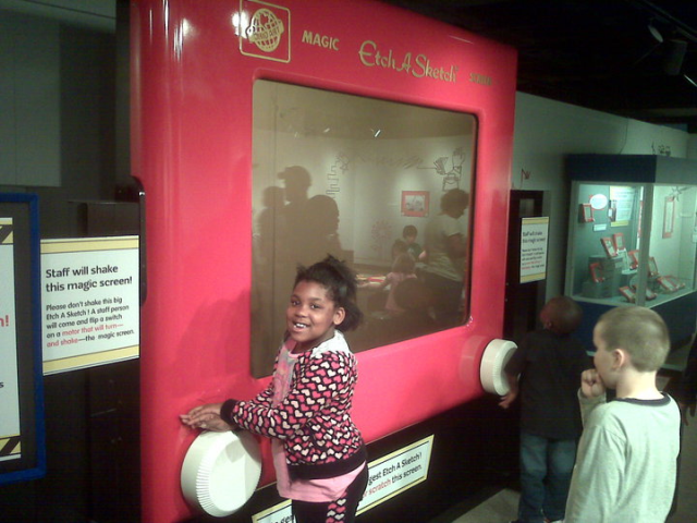 interactive display at Children's Museum