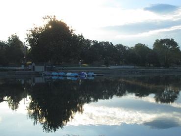 Miller Park boat dock.