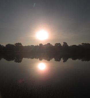 Miller Park sunrise (taken through sunglasses)