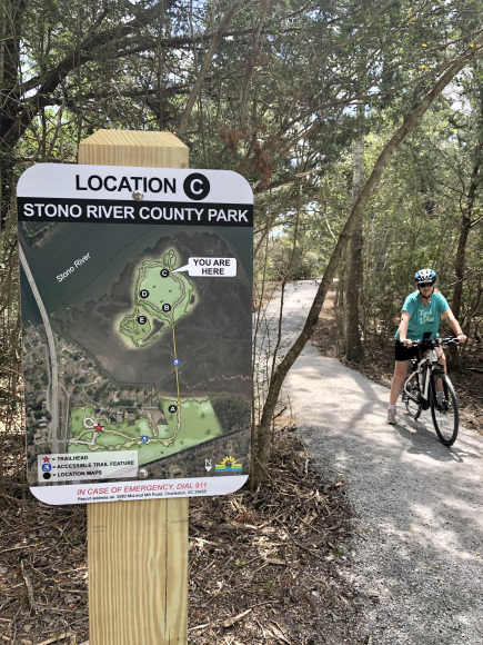 We love the bike and walking trails at the new Stono River County Park!