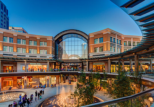 City Creek Mall.  I love the mixture of uses into a walkable community that draws people together.