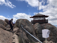 Visiting the Devil's Head tower with the USFS and NPS project team. NPS photo credit. Summer 2019