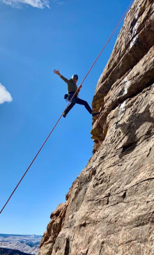 I took this photo in late Fall 2019. Climbing in Devil's Head is pure joy and relatively secluded on the Front Range.