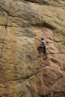 Enjoying crowd free front range climbing.