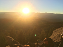 Capturing that beautiful evening light after an awesome day of climbing at DH.