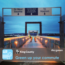 I get around town via King County's Water Taxi service. Riders travel stress-free, surrounded by beauty.