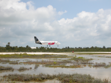 Key West Airport Salt Water Next to runway