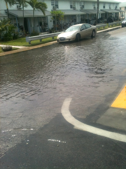 King Tide Oct 8-Key West, corner of Vivian St, at 1st Street, one block off N. Roosevelt Blvd