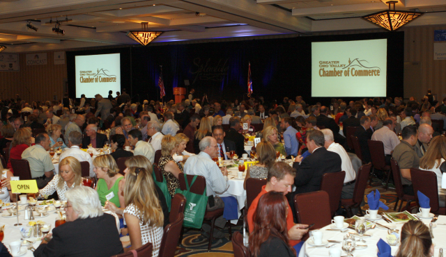 "Approximately 550 attendees listened to Mayor Hiremath's address, ""Oro Valley: A picture of healthy growth."""