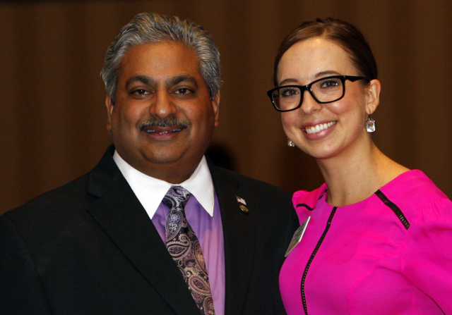 Mayor Hiremath and Alex Demeroutis