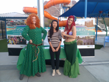 Your Voice Volunteer Joyce Cao at the Halloween Fest at the Aquatic Center on 10/26/13