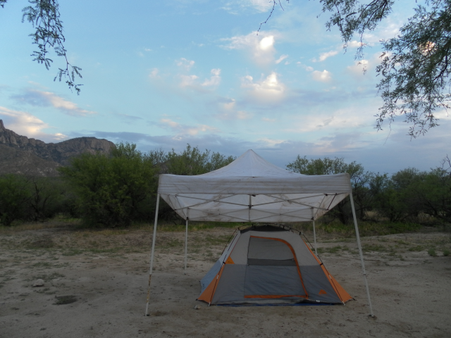 Desert camping adventure at the Catalina State Park