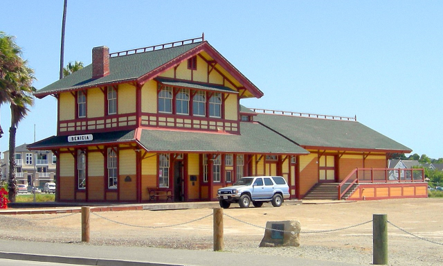 Benecia, CA for a smaller city. This is their old Train depot