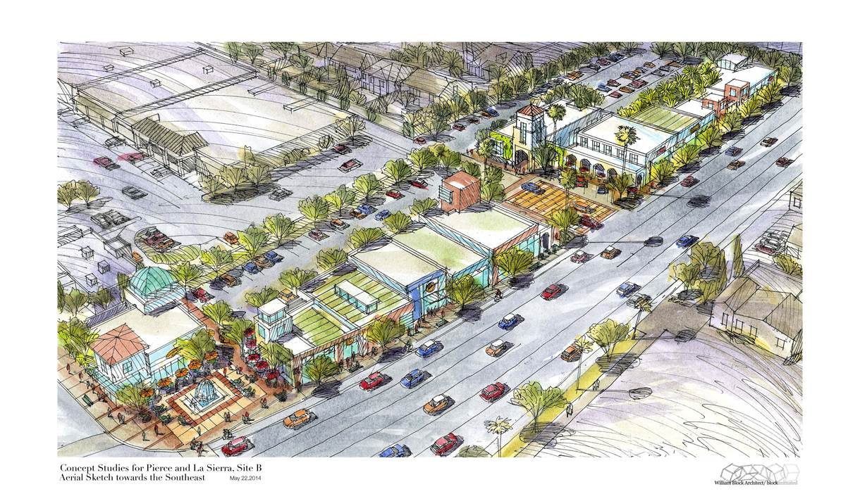 High-quality office development with a restaurant proposed for Five Points area of La Sierra