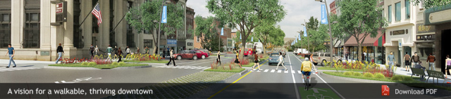 Bike, pedestrian, and transit friendly streets with access to shopping & entertainment...preferably close to downtown.
