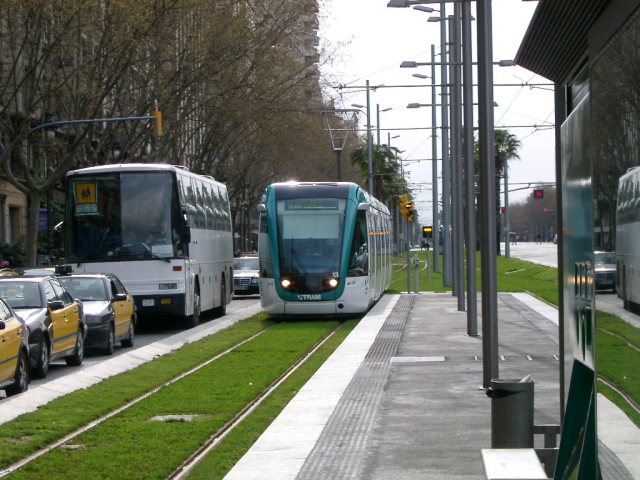 Light Rail in dedicated right-of-way