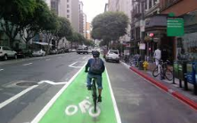 Buffered bike lanes.