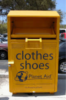 Clothes recycling bins!