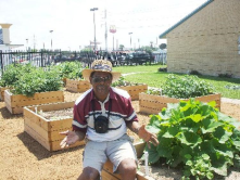 Community gardening in a southside food desert where elderly and disabled people live. One plot can supplement a lot.