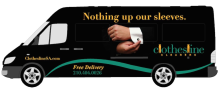 We deliver our non-toxic dry cleaning using bio diesel fuel.