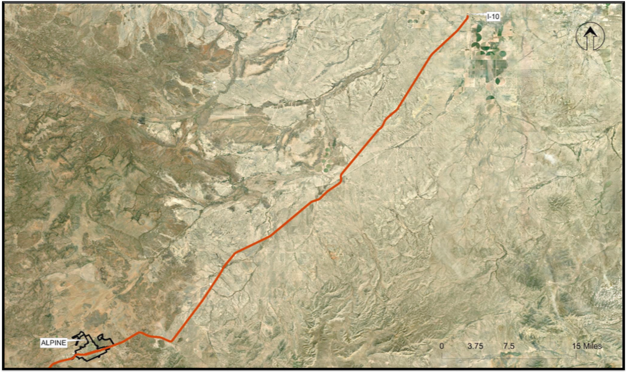 Top 3 Improvement Options for Area F (US 67 from Alpine to I-10)