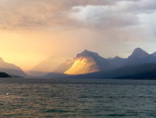 Evening Storm coming down Lake McDonald.