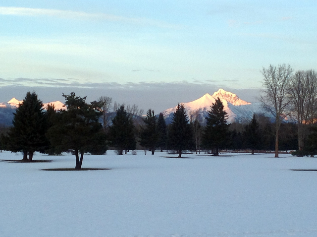 Views from West Glacier Golf Course