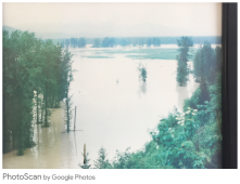 1975 Flood at Golf Course, BRM photo