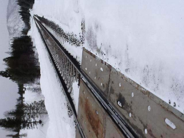 BNSF east-west railroad tracks